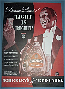 1939 Schenley's Light Red Label Whiskey With A Man