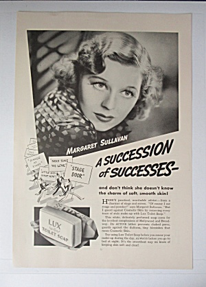 1936 Lux Toilet Soap with Margaret Sullavan  (Image1)