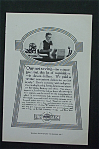 1917 Edison-Dick Mimeograph with Man At Desk  (Image1)