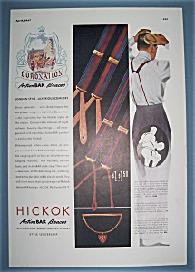 Vintage Ad: 1937 Hickok Action Bak Braces