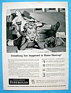 1952 Owens Corning Fiberglas Insulation w/Boy on Floor (Image1)