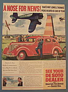 Vintage Ad: 1937 Desoto With Lowell Thomas