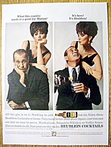 Vintage Ad: 1963 Heublein Cocktails w/ Darren McGavin (Image1)