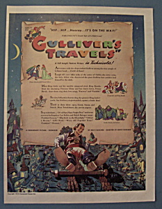 Vintage Ad: 1940 Movie Ad For Gulliver's Travels (Image1)