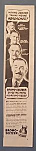 Vintage Ad: 1940 Bromo - Seltzer w/ Offerman (Image1)
