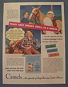 Vintage Ad: 1940 Camel Cigarettes w/ Peggy McManus (Image1)