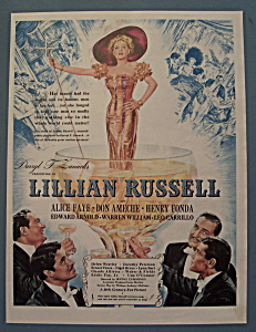 Vintage Ad: 1940 Movie Ad For Lillian Russell (Image1)
