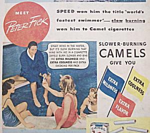 Vintage Ad: 1940 Camel Cigarettes w/ Peter Fick (Image1)