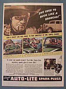 Vintage Ad: 1940 Auto-Lite Spark Plugs (Image1)