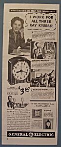 Vintage Ad:1940 General Electric Clock w/Alice Cavanagh (Image1)