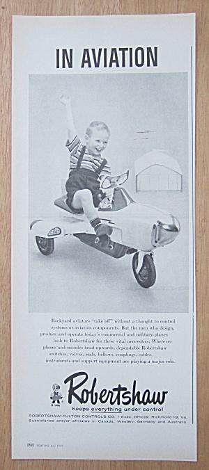 1959 Robertshaw Fulton Controls Co w/Boy & Toy Plane (Image1)