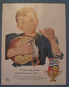 Vintage Ad: 1957 Wheaties Cereal