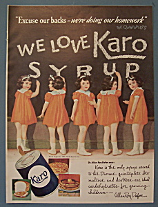 Vintage Ad: 1938 Karo Syrup W/ The Dionne Quintuplets
