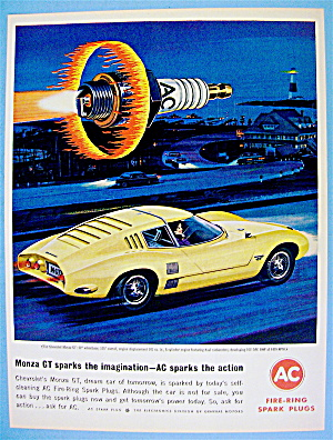 1964 AC Fire-Ring Spark Plugs with Chevy Monza GT (Image1)