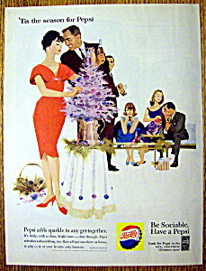 1960 Pepsi Cola (Pepsi) With Woman Decorating Tree