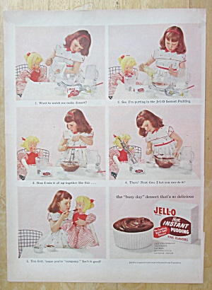 Vintage Ad: 1955 Jell-o New Instant Pudding