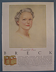 1956 Breck Shampoo with Lovely Gray Haired Woman (Image1)