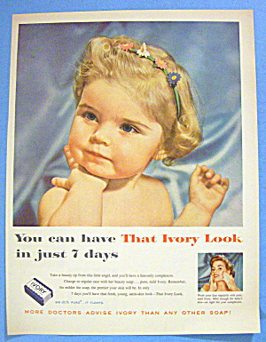 1956 Ivory Soap with Lovely Little Blonde Haired Girl (Image1)