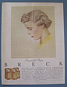 1955 Breck Shampoo with Beautiful Woman's Side View (Image1)