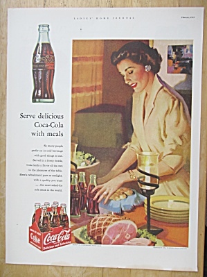 1953 Coca-Cola (Coke) with Woman Setting The Table  (Image1)