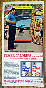 Vintage Ad: 1962 Quaker Puffed Wheat & Rice Cereal (Image1)