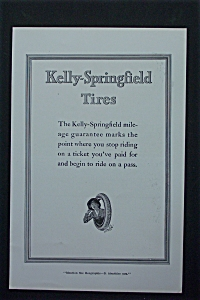 1917 Kelly-Springfield Tires with Woman Inside a Tire (Image1)