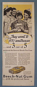 1941 Beech-nut Gum With 670 Waitresses
