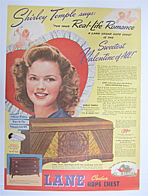 1945 Lane Cedar Hope Chest with Shirley Temple  (Image1)