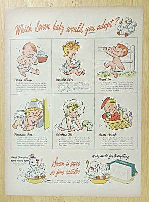 1945 Swan Soap With Which Swan Baby Would You Adopt