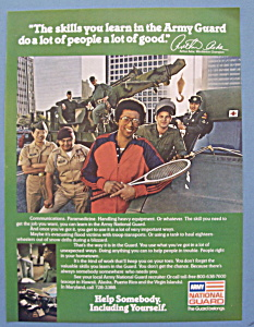 Vintage Ad: 1979 National Guard with Arthur Ashe (Image1)