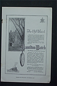 1917 Hamilton Watch With Building & Watch Hanging
