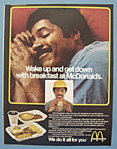 1978 Mc Donald's Restaurant W/ Man Sleeping & Dreaming