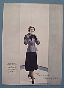 Vintage Ad: 1948 Juilliard Wool