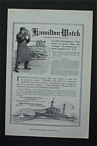 1917 Hamilton Watch With Man On A Boat