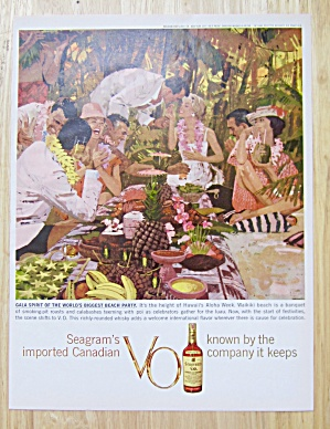 1959 Seagram's Vo Whiskey W/world's Biggest Beach Party