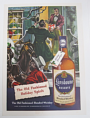 1946 Lansdowne Blended Whiskey With Two Men Talking
