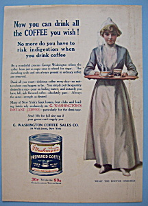 Vintage Ad: 1914 G. Washington Prepared Coffee (Image1)