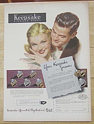 1952 Keepsake Diamond Rings with Woman Smiling (Image1)