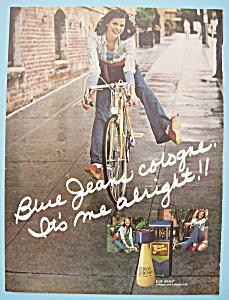 Vintage Ad: 1974 Blue Jeans Cologne (Image1)