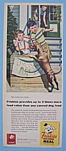 Vintage Ad: 1955 Friskies Dog Food By Stan Ekman (Image1)