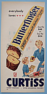 Vintage Ad: 1954 Curtiss Butterfinger Candy Bar (Image1)