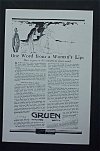 1917 Gruen Verithin Watch With Man & Woman Talking