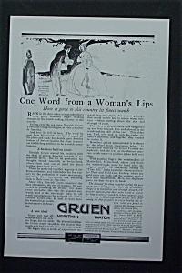1917 Gruen Verithin Watch with Man & Woman Talking  (Image1)