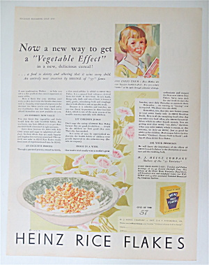 1930 Heinz Rice Flakes With A Bowl Of Cereal