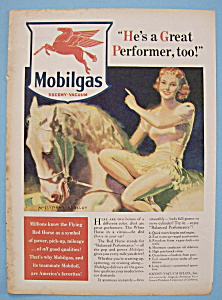 Vintage Ad: 1940 Mobilgas By McClelland Barclay (Image1)