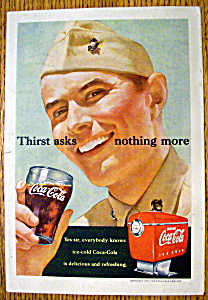 1951 Coca Cola (Coke) With Soldier & Glass Of Coke