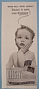 Vintage Ad: 1940 Delsey Toilet Paper (Image1)