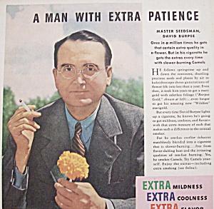 Vintage Ad: 1940 Camel Cigarettes w/ David Burpee (Image1)