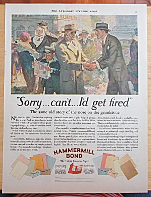 1928 Hammermill Bond Business Paper With Men Talking