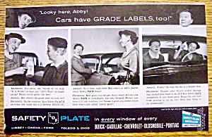 Vintage Ad:1959 Safety Plate Glass w/ Margaret Hamilton (Image1)